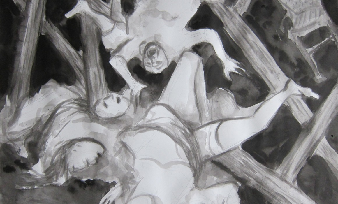 Le 13 novembre 2015 d'après Goya, les désastres de la guerre - 2015 - encre sur papier - 50 x 65 cm - © Jörg Langhans
