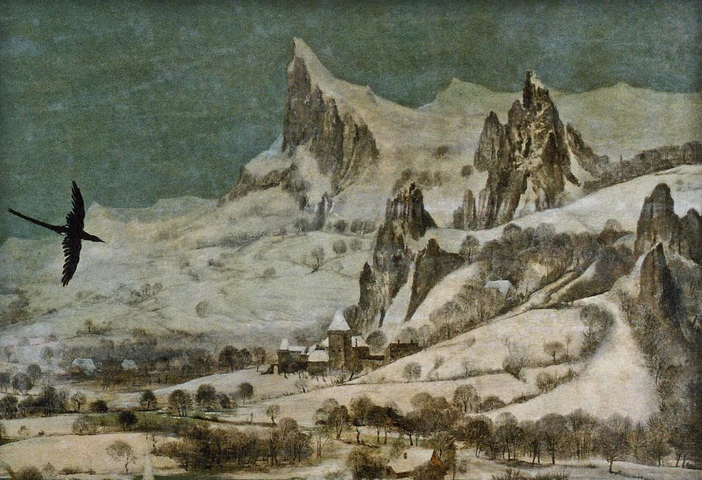Bruegel l'ancien, l'hiver, détaille, post Jörg Langhans