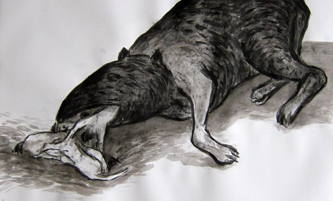 D'après Goya, les désastres de la guerre, 2015, encre sur papier, 50 x 65cm, © Jörg Langhans