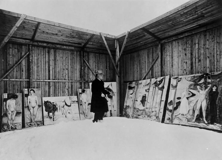 Edward Munch à Ekely, 1925, Photo Lutz et Co, Berlin