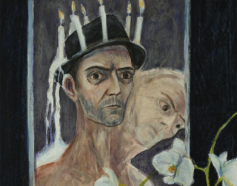 Selfportrait,détaiI-2012-gouache and pastel on paper-105x75cm © Jörg langhans