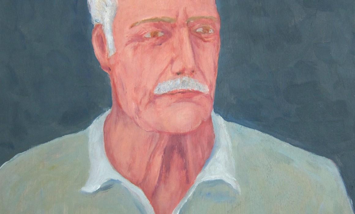 Jörg Langhans, Portrait de mon père, 2010, oil on wood 50x50cm