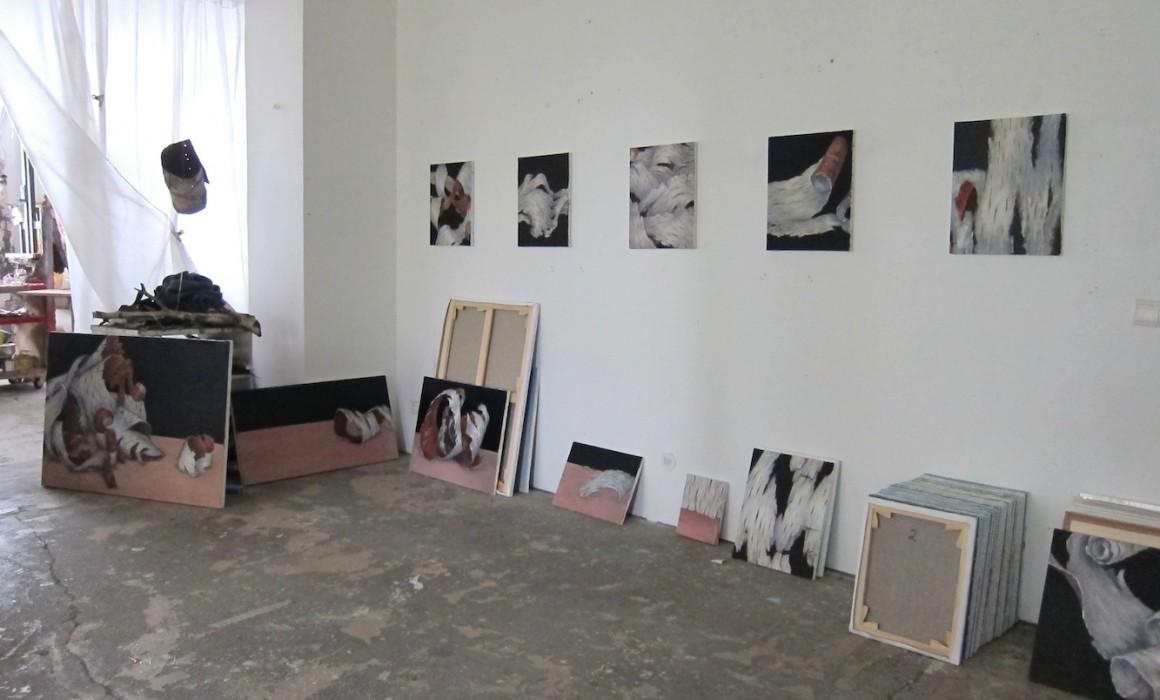 l'atelier décembre 2016, des écorces,suite © Jörg langhans