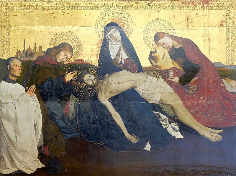 Piétà, Enguerrand Quarton, 15ème,peinture sur bois, musée du Louvre-post © Jörg langhans
