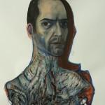 ©jörglanghans-autoportrait VII,mixte:papier,105x75,2012